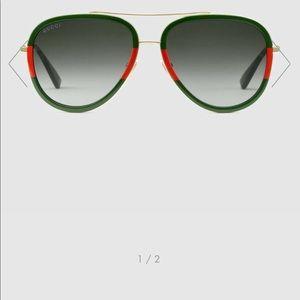 Gucci Web Aviator sunglasses